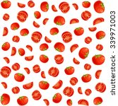 pattern with tomato  | Shutterstock .eps vector #339971003