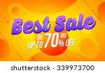 best sale banner. vector... | Shutterstock .eps vector #339973700
