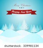 merry christmas landscape.... | Shutterstock .eps vector #339981134