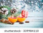 christmas decoration on... | Shutterstock . vector #339984110
