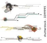 abstract technical design...   Shutterstock .eps vector #3399995