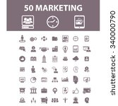 marketing  market icons  signs... | Shutterstock .eps vector #340000790