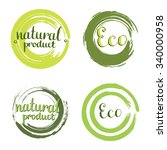 Eco Vector Set With Circle...