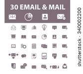 email  message  mail  icons ... | Shutterstock .eps vector #340002200