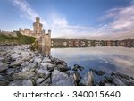 blackrock castle on banks of... | Shutterstock . vector #340015640