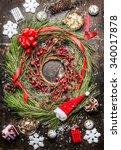 Cedar Christmas Wreath With...