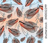 seamless pattern with fishes | Shutterstock .eps vector #340032299