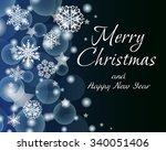 elegant noble christmas...   Shutterstock .eps vector #340051406