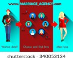 flat infographics of marriage... | Shutterstock .eps vector #340053134