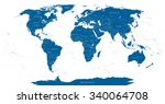 highly detailed world map... | Shutterstock .eps vector #340064708