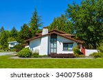 original residential house with ...   Shutterstock . vector #340075688