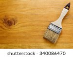 paint brush on freshly... | Shutterstock . vector #340086470
