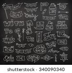 doodle calligraphic funny... | Shutterstock .eps vector #340090340