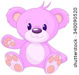 illustration of cute toy bear  | Shutterstock .eps vector #340090520