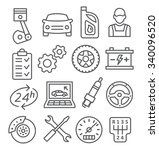 auto service line icons | Shutterstock . vector #340096520