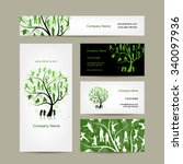 business cards design  family... | Shutterstock .eps vector #340097936