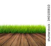 3d rendered wooden footpath... | Shutterstock . vector #340100810