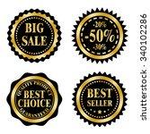 sale badges  stickers  logo ... | Shutterstock .eps vector #340102286