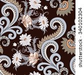 Seamless Pattern   With Daises...