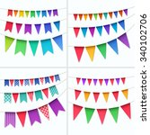 vector set of multicolored... | Shutterstock .eps vector #340102706