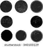 set of grunge rubber stamps.  | Shutterstock .eps vector #340103129