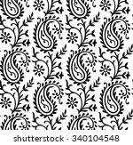 seamless paisley pattern   Shutterstock .eps vector #340104548