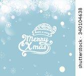 vector illustration of merry...   Shutterstock .eps vector #340104638