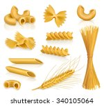 set pasta  vector icons | Shutterstock .eps vector #340105064
