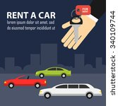 rent a car. vector banner. | Shutterstock .eps vector #340109744