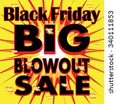 black friday vector explosion... | Shutterstock .eps vector #340111853