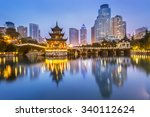 cityscape of guiyang at night ... | Shutterstock . vector #340112624