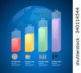 design infographic template 4... | Shutterstock .eps vector #340114544