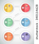 6 steps infographic template.... | Shutterstock .eps vector #340114628