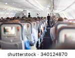 interior of large passengers... | Shutterstock . vector #340124870