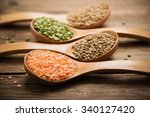 variety lentils and peas | Shutterstock . vector #340127420