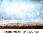 winter background of blue... | Shutterstock . vector #340127750