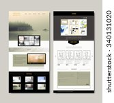elegant one page web design...