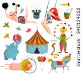 circus carnival show clip art... | Shutterstock . vector #340134203
