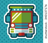 transportation school bus flat... | Shutterstock .eps vector #340137176
