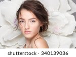 model bride with wedding make... | Shutterstock . vector #340139036