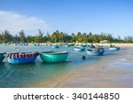 ke ga beach with many colorful... | Shutterstock . vector #340144850
