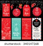 vector christmas party... | Shutterstock .eps vector #340147268