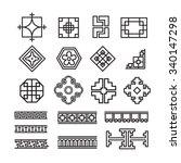 asian ornament icon  korean ...   Shutterstock .eps vector #340147298