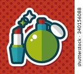 shopping perfume and lipsticks... | Shutterstock .eps vector #340156088