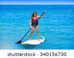 Kid Paddle Surf Surfer Girl...