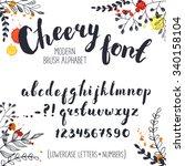 handmade letters. cheery...   Shutterstock .eps vector #340158104
