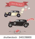 set of wedding invitation... | Shutterstock .eps vector #340158800