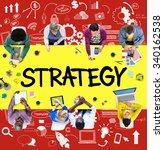 strategy online social media... | Shutterstock . vector #340162538