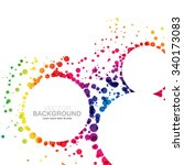 colorful overlapping circles... | Shutterstock .eps vector #340173083