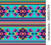 neon color tribal navajo...   Shutterstock .eps vector #340201799